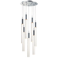 Big Fizz LED 16 inch Polished Chrome Multi-Light Pendant Ceiling Light