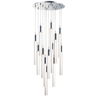 ET2 E22878-91PC Big Fizz LED 20 inch Polished Chrome Multi-Light Pendant Ceiling Light