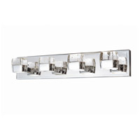 Volt LED 27 inch Polished Chrome Bath Vanity Wall Light in 27 in.,  8 Light