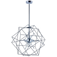ET2 E22914-BKPC Rubic LED LED 34 inch Black and Polished Chrome Single Pendant Ceiling Light