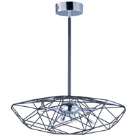 ET2 E22918-BKPC Rubic LED LED 23 inch Black and Polished Chrome Single Pendant Ceiling Light