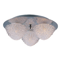 Blossom 3 Light 11 inch Polished Chrome Flush Mount Ceiling Light