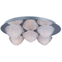 Blossom 5 Light 16 inch Polished Chrome Flush Mount Ceiling Light