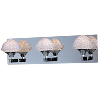 Blossom 3 Light 20 inch Polished Chrome Bath Light Wall Light in 20 in.