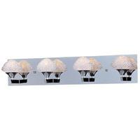 ET2 E23014-20PC Blossom 4 Light 28 inch Polished Chrome Bath Light Wall Light in 27.75 in.
