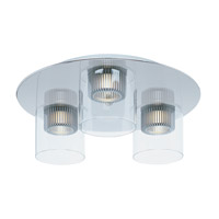 ET2 Cyborg 3 Light Flush Mount in Polished Chrome E23060-18PC
