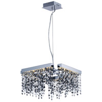 Midnight Shower LED 15 inch Polished Chrome Single Pendant Ceiling Light
