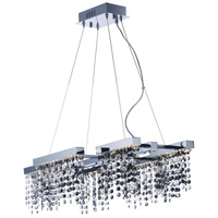 Midnight Shower LED 17 inch Polished Chrome Single Pendant Ceiling Light