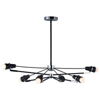Bounce LED 29 inch Black and Polished Chrome Multi-Light Pendant Ceiling Light