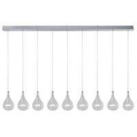 Larmes 9 Light 56 inch Polished Chrome Linear Pendant Ceiling Light