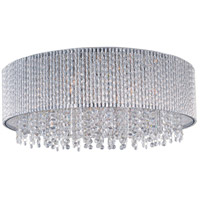 Spiral 10 Light 22 inch Polished Chrome Flush Mount Ceiling Light
