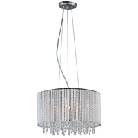 Spiral 7 Light 17 inch Polished Chrome Pendant Ceiling Light
