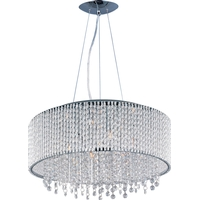 Spiral 10 Light 23 inch Polished Chrome Pendant Ceiling Light