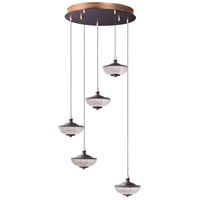 ET2 E23153-126BRZGLD Bella LED 20 inch Bronze and Gold Multi-Light Pendant Ceiling Light