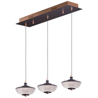 ET2 E23154-126BRZGLD Bella LED 6 inch Bronze and Gold Linear Pendant Ceiling Light