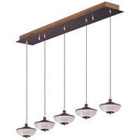 ET2 E23155-126BRZGLD Bella LED 6 inch Bronze and Gold Linear Pendant Ceiling Light