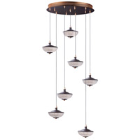 ET2 E23157-126BRZGLD Bella LED 21 inch Bronze and Gold Multi-Light Pendant Ceiling Light