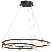 ET2 E23166-75BKGLD Button LED 29 inch Black and Gold Suspension Pendant Ceiling Light