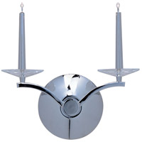 Circolo 2 Light 13 inch Polished Chrome Wall Sconce Wall Light