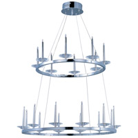 Circolo 20 Light 31 inch Polished Chrome Pendant Ceiling Light