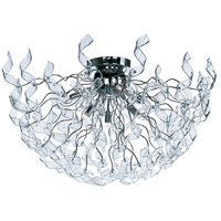 Zest 6 Light 29 inch Polished Chrome Flush Mount Ceiling Light
