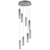 Bangle 8 Light 16 inch Polished Chrome Flush Mount Ceiling Light