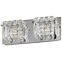 Bangle 2 Light 13 inch Polished Chrome Bath Light Wall Light in 13.25 in.
