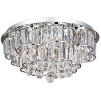 Bangle 12 Light 18 inch Polished Chrome Flush Mount Ceiling Light