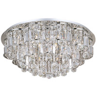 Bangle 20 Light 26 inch Polished Chrome Flush Mount Ceiling Light