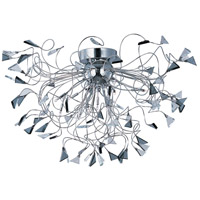 Calypso 12 Light 30 inch Polished Chrome Flush Mount Ceiling Light