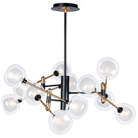 ET2 E23284-93BKGLD Parallel LED 43 inch Black and Gold Multi-Light Pendant Ceiling Light