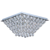 Brilliant 16 Light 20 inch Polished Chrome Flush Mount Ceiling Light