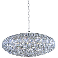 Brilliant 8 Light 24 inch Polished Chrome Pendant Ceiling Light