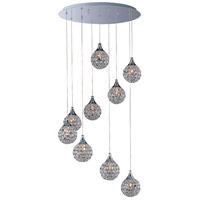 Brilliant 9 Light 22 inch Polished Chrome Pendant Ceiling Light