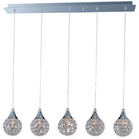 Brilliant 5 Light 7 inch Polished Chrome Pendant Ceiling Light