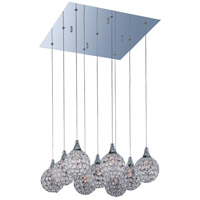 Brilliant 9 Light 19 inch Polished Chrome Pendant Ceiling Light