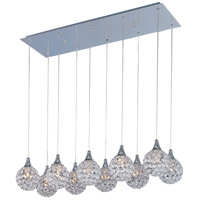 ET2 E24028-20PC Brilliant 10 Light 11 inch Polished Chrome Pendant Ceiling Light