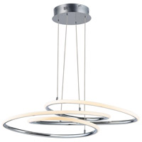 ET2 E24132-PC Coaster LED 20 inch Polished Chrome Single Pendant Ceiling Light