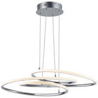 ET2 E24132-PC Coaster LED 20 inch Polished Chrome Single Pendant Ceiling Light