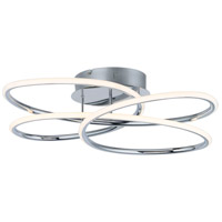ET2 E24134-PC Coaster LED 20 inch Polished Chrome Flush Mount Ceiling Light