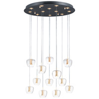 ET2 E24167-18BKGLD Newton 12 Light 28 inch Black and Gold Multi-Light Pendant Ceiling Light