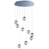 ET2 E24254-91PC Orb 9 Light 22 inch Polished Chrome Pendant Ceiling Light