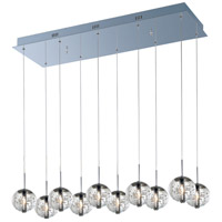 ET2 E24256-91PC Orb 10 Light 11 inch Polished Chrome Pendant Ceiling Light