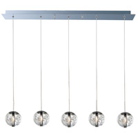 Orb 5 Light 7 inch Polished Chrome Pendant Ceiling Light