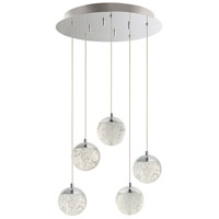 ET2 E24264-91PC Orb II LED 16 inch Polished Chrome Multi-Light Pendant Ceiling Light