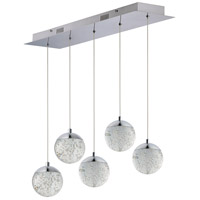 ET2 E24265-91PC Orb II LED 7 inch Polished Chrome Multi-Light Pendant Ceiling Light