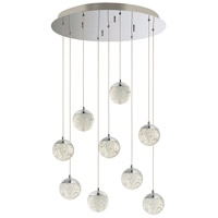 ET2 E24269-91PC Orb II LED 22 inch Polished Chrome Multi-Light Pendant Ceiling Light
