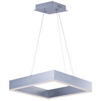 Metallika LED LED Brushed Aluminum Single Pendant Ceiling Light