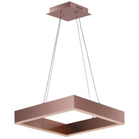Metallika LED LED 17 inch Satin Copper Single Pendant Ceiling Light