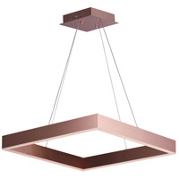 Metallika LED LED 25 inch Satin Copper Single Pendant Ceiling Light